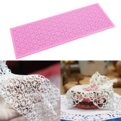 Silicone Lace Love Shape Fondant Mould Craft DIY Cake Decorating Mould
