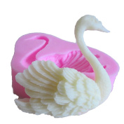Swan Shape 3D Fondant Silicone Mould Candle Chocolate Soap Moulds Sugar Craft Tools Bakeware