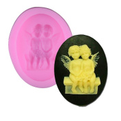 A Pair angels Silicone Chocolate Fondant Cake Candle Soap Moulds Moulds