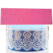 New Arrival DIY Silicone Lace Flower Fondant Mould Sugarcraft Cake Decorating Mould Tool
