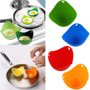 HENGSONG 4PCS Egg Poacher Silicone Cooking Perfect Poached Eggs Moulds