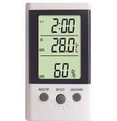 Refrigerator fish tank Home Outdoor Thermometer dual electronic temperature alarm clocks date display