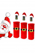 HENGSONG Christmas Wine Bottle Cover Santa Pants Hat Bottle Decoration Home Party Decors
