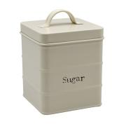 Harbour Housewares Metal Sugar Canister - Cream