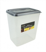 2 x 6 Litre Plastic Pasta Rice Pet Food Storage Containers