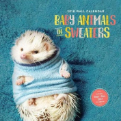 Baby Animals in Sweaters 2018 Wall Calendar