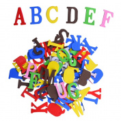 Outus Self-adhesive Foam Stickers Letters, Assorted Colours, 104 Pieces