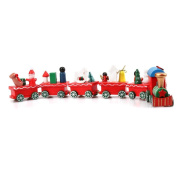 Culater® 6 Pieces Wood Christmas Xmas MIni Train Toy Decoration Decor Gift