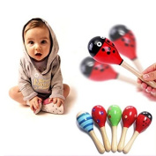 Efbock Cute Baby Kids Sound Music Gift Toddler Rattle Musical Wooden Colourful Toys 1pcs