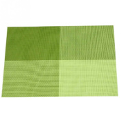 Home Table Decoration Accessories Heat-insulated Tableware PVC Chic Placemat Kitchen Dining Bowl waterproof Green
