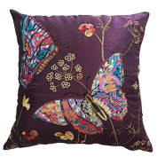 """Embroidered Butterfly Cushion Covers Decorative PillowCase46cm x 18"""""""