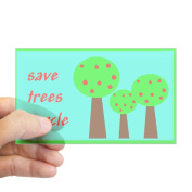 CafePress - Save Trees Recycle Rectangle Sticker - Rectangle Bumper Sticker Car Decal