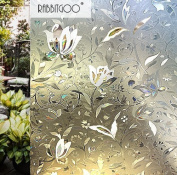 Rabbitgoo 3D Window Films Privacy Film Static Decorative Film Non-Adhesive Heat Control Anti UV 35.4 In. By 78.7In.