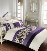 Luxury duvet cover sets with pillowcases new reversible polycotton bedding