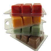 4 pack ~ Fall Harvest Gift Collection ~ Wax Melts~ Pumpkin Pie, Autumn Leaves, Harvest Spice, Salted Caramel