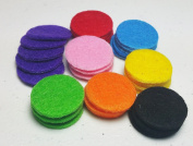 AromaRain 40-Count Premium Essential Oil Pads (8 Colours) - Refill and Replacement Essential Oil Necklace Pads For Aromatherapy