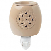 Crafters & Co. Taupe Medallion Glaze Plug-in Wax Warmer