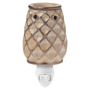 Crafters & Co. Woven Bronze Plug-in Wax Warmer