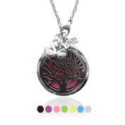 Aromatherapy Tree of Life Pendant Locket Necklace Essential Oil Diffuser 316L Grade KOKO AROMA