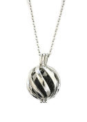 Statement 316L Stainless Steel Essential Oil Aromatherapy Diffuser Necklace- 60cm