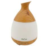 MeToo Aroma Diffuser 120ml Hundred Millilitres of Ultrasonic Humidifier Cold Mist Oil Diffusion Colourful LED Lights is Suitable for Home-Wood Grain