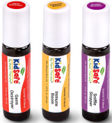 KidSafe Wellness Roll-On Sampler Set. 100% Pure, Pre-diluted, Therapeutic Grade Essential Oils.