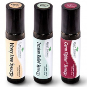 Top 3 Synergies Set. 100% Pure, Pre-Diluted, Therapeutic Grade Essential Oils.