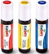 Top 3 KidSafe Roll-On Set. 100% Pure, Pre-diluted, Therapeutic Grade Essential Oils.