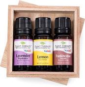 Top 3 Singles Essential Oil Set - 3 Oil Set (Lavender, Lemon, Frankincense Serrata) 100% Pure, Undiluted, Therapeutic Gr