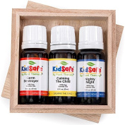 Top 3 KidSafe Set. 100% Pure, Undiluted, Therapeutic Grade. Calming the Child, Germ Destroyer, and Nighty Night.