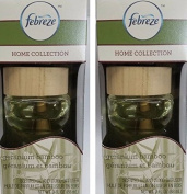 Lot of 2 Febreze Home Collection Wood Diffuser GERANIUM BAMBOO 90ml Lasts 30 days