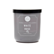 White Rose Richly Scented Candle Small Single Wick Hand Poured From Dw Home 120ml