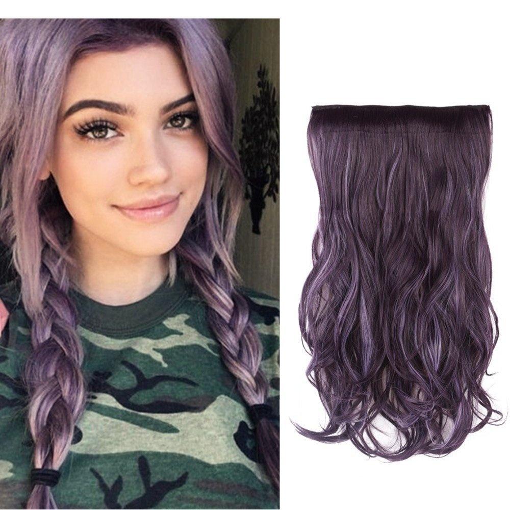 Hairphocas 50cm Black Purple Mixed Violet Dip Dye Secret Hair