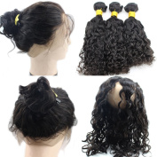 Atina Hair 360 Frontal With Bundle Loose Wave Pre Plucked Natural Hairline With Baby Hair Can Do High Ponytail Brazilian Virgin Curly Band