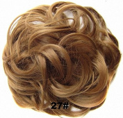 Top Knot | Scrunchy | Scrunchie | Hair Bun | Updo | Hairpiece | Ponytail | Hair Extensions | Wavy Messy Hair Bun | Hair Chignons | Wig | Natural Black Hairpiece