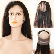 """360 Lace Frontal Closure 60cm x 10cm x 2"""" Brazilian Virgin Human Hair Natural Hairline Lace Band Frontal Closure With Baby Hair"""