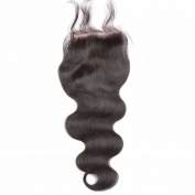 Brazilian Body Wave Top Closure Human Hair Lace Closure with Baby Hair Bleached Knots Free Part Closure