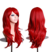 ATOZHair Halloween Festival Cosply Party Show Long Curly Wave Synthetic Wig Red