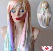 Longlove Copper Red Hair Female Cartoon Character Halloween Masquerade Playing Game Big Wave Wig ...