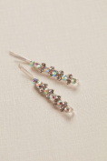 Double Solitaire Cluster Bobbies Style 141654BP, Silver
