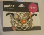 Karina French Couture five colour stones Ponytail Holder