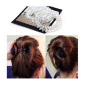 OKDEALS Girls Crystal Elastic Rubber Hairband Phone Wire Hair Tie Rope Band Ponytail 5PCS