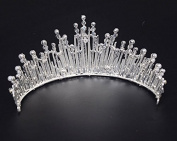VKFashion Bridal Royalty Tiara, Crystal Wedding Crown, Wedding Hair Accessories Headband, Style C01