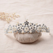 VKFashion Bridal Tiara, Crystal Wedding Crown, Princess Crown , Style C02