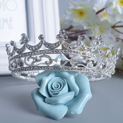 VKFashion Wedding Crown,Braidal Tiara, Vintage Rhinestone Headpiece Hair Accessories, Style D02