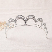 VKFashion Bridal Tiara Wedding Crown, Hair Accessories Rhinestone Crown Wedding Pageant, Style C06