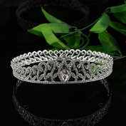 VKFashion Wedding Crown,Braidal Tiara, Vintage Rhinestone Headpiece Hair Accessories, Style D07