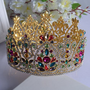 VKFashion Wedding Crown,Braidal Tiara, Vintage Rhinestone Headpiece Hair Accessories, Style D04