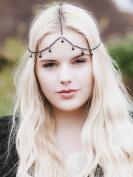 A & C Fashion Bohemia 1 Layer Black Rhinestones Witch Headchain for Women; 2016 .  Headpieces for Girls.