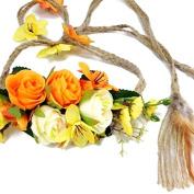Fascinator Feather Headband Bohemian Tassels Headwear : SP8